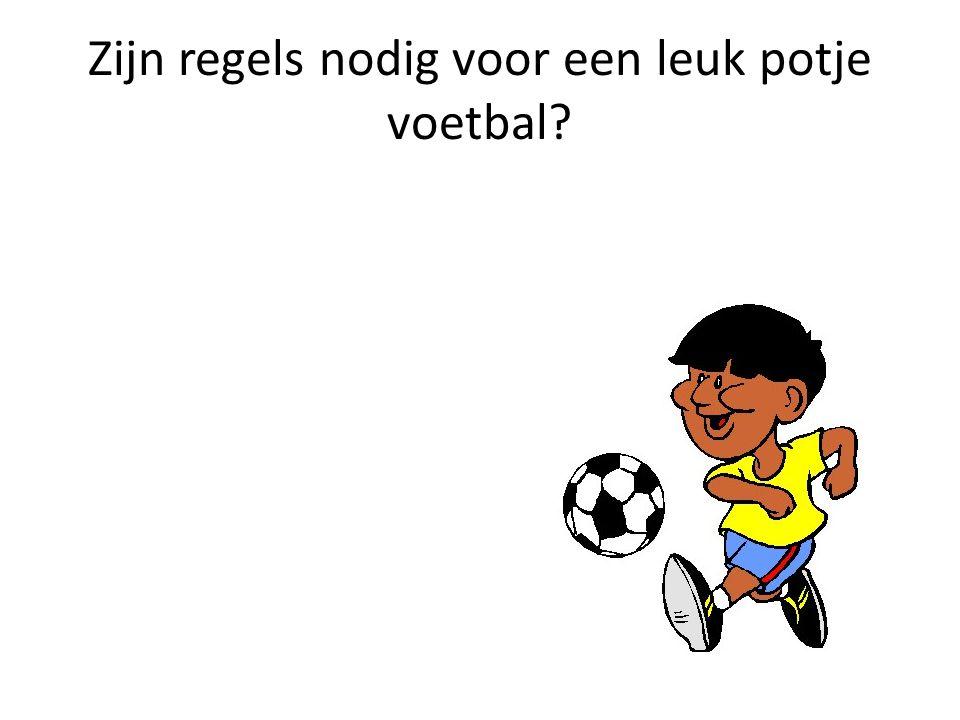 Zijn regels nodig voor een leuk potje voetbal