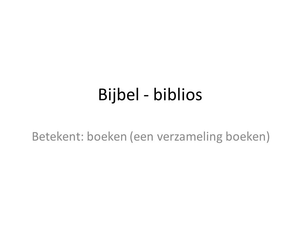 Betekent: boeken (een verzameling boeken)