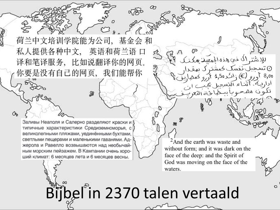 Bijbel in 2370 talen vertaald