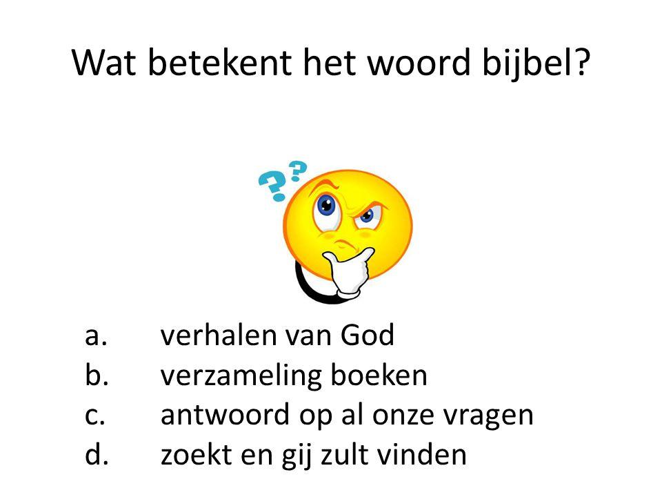 Wat betekent het woord bijbel