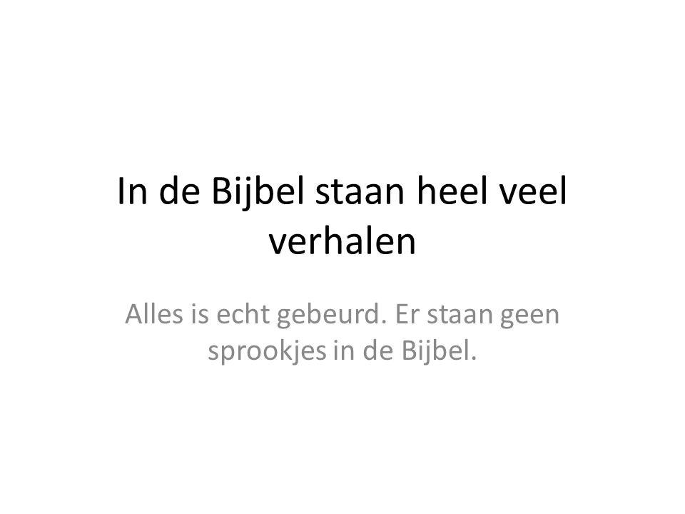 In de Bijbel staan heel veel verhalen