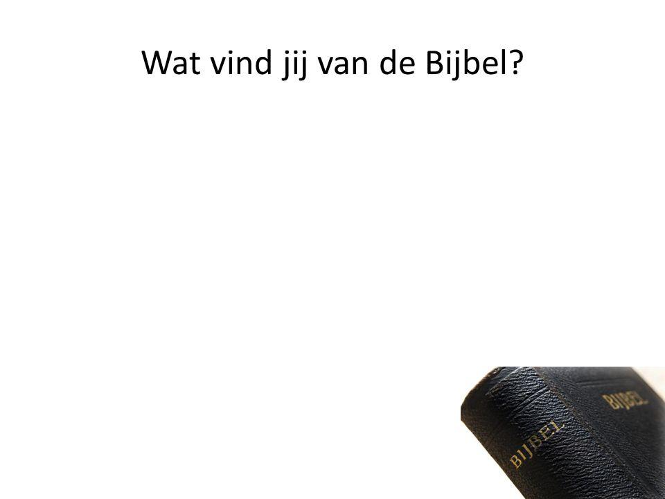 Wat vind jij van de Bijbel