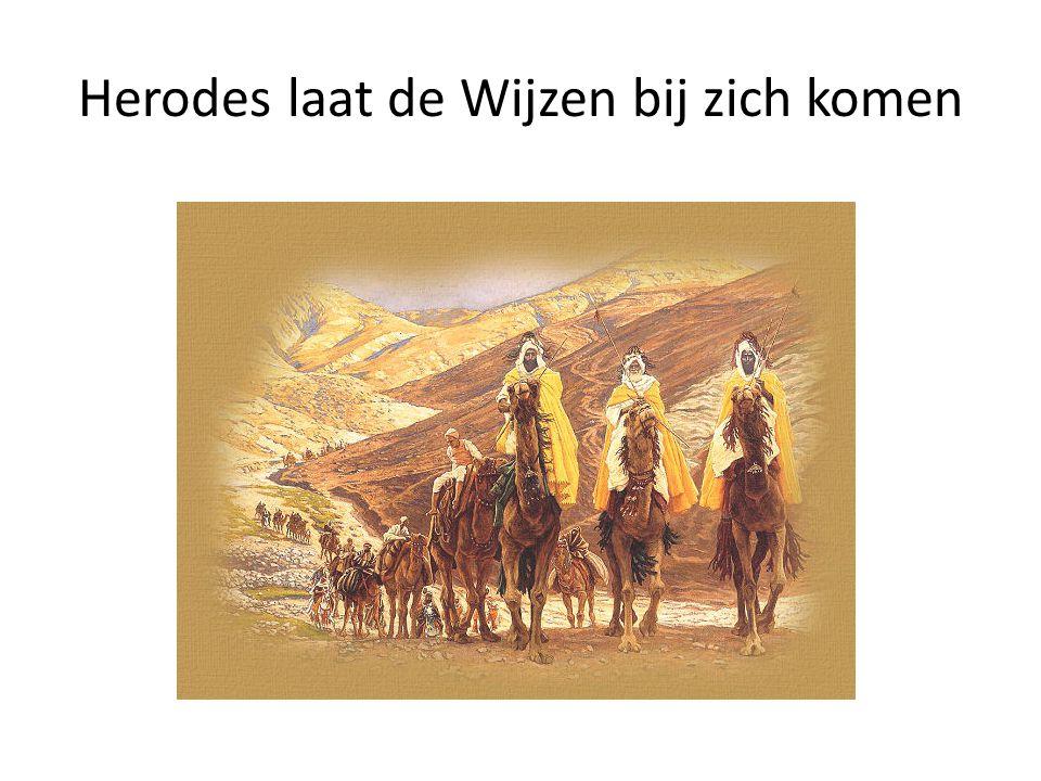 Herodes laat de Wijzen bij zich komen