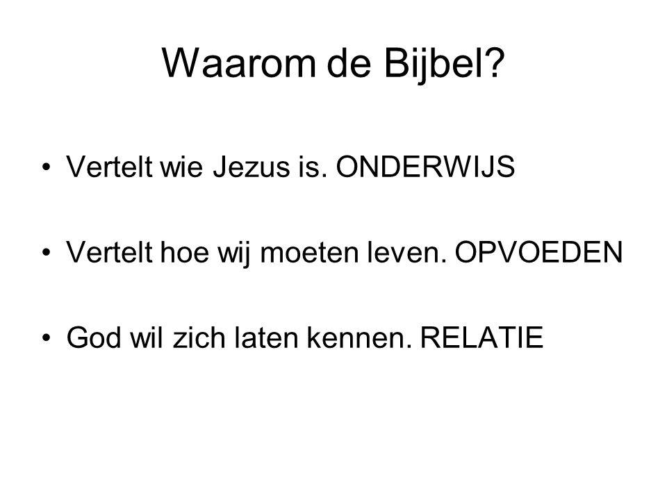 Waarom de Bijbel Vertelt wie Jezus is. ONDERWIJS