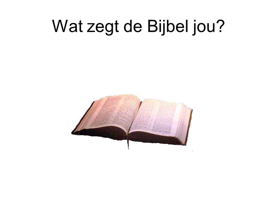 Wat zegt de Bijbel jou