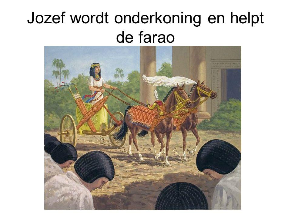 Jozef wordt onderkoning en helpt de farao