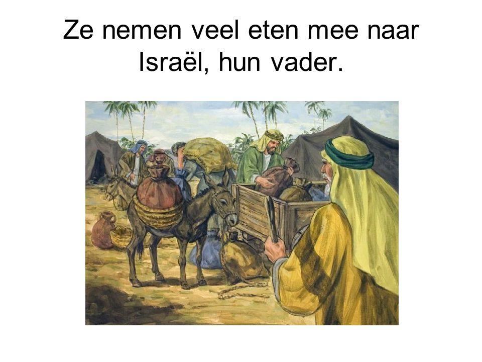 Ze nemen veel eten mee naar Israël, hun vader.