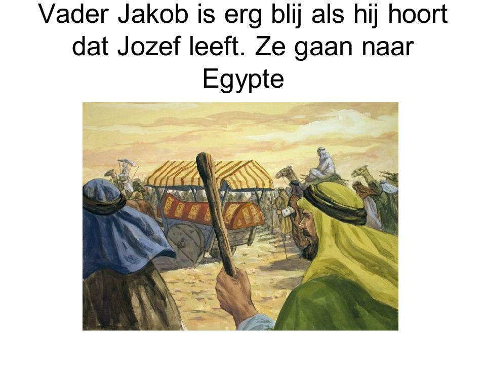 Vader Jakob is erg blij als hij hoort dat Jozef leeft