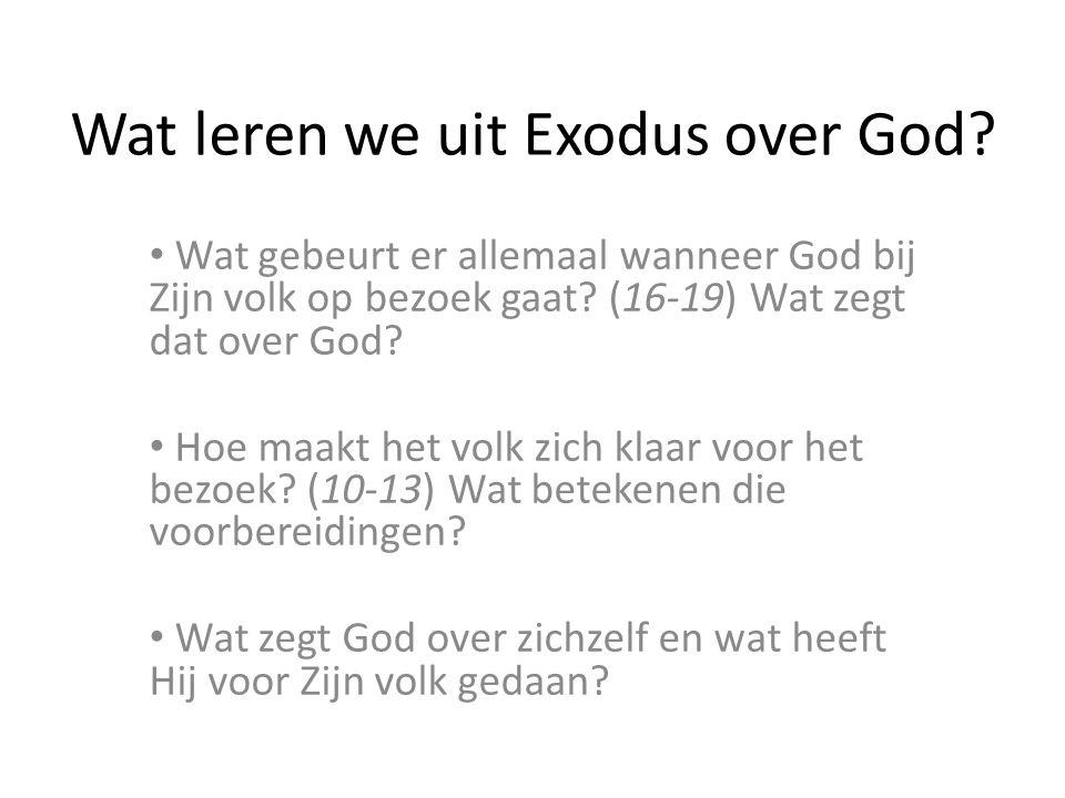 Wat leren we uit Exodus over God