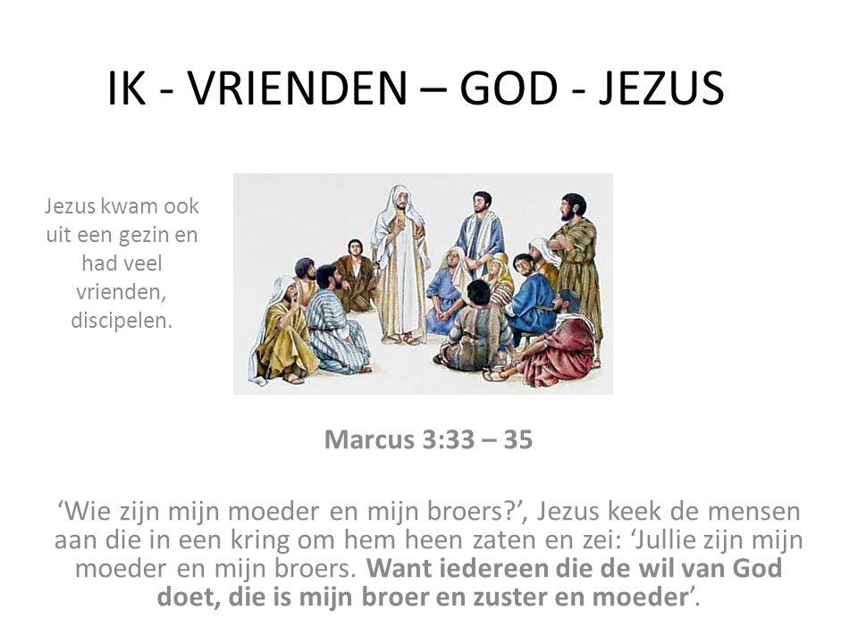IK - VRIENDEN – GOD - JEZUS