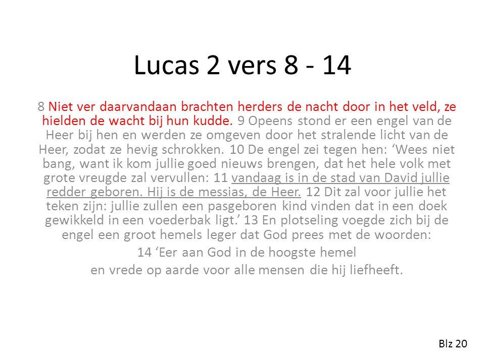 Lucas 2 vers 8 - 14
