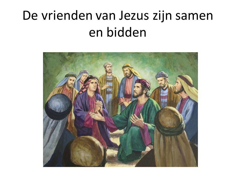 De vrienden van Jezus zijn samen en bidden