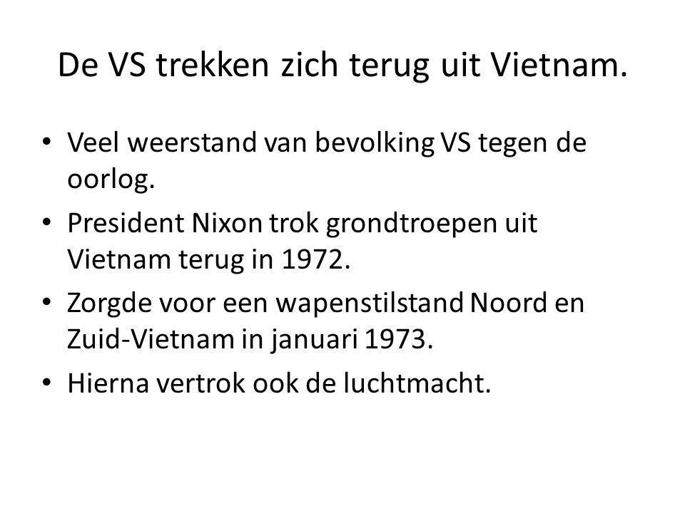 De VS trekken zich terug uit Vietnam.