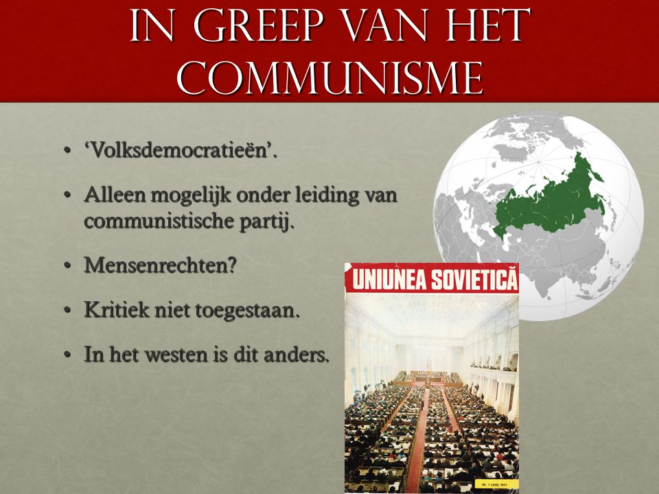 in greep van het communisme