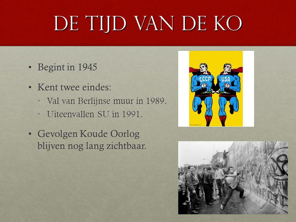 De tijd van de KO Begint in 1945 Kent twee eindes: