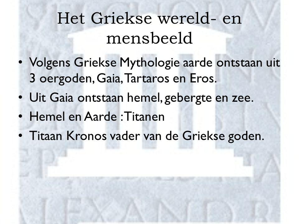 Het Griekse wereld- en mensbeeld