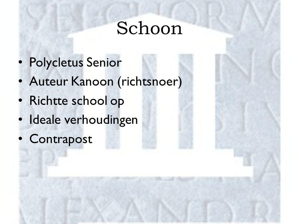 Schoon Polycletus Senior Auteur Kanoon (richtsnoer) Richtte school op