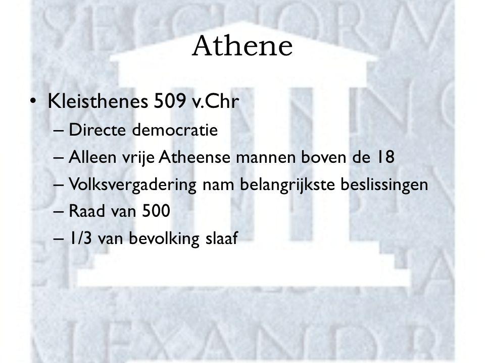 Athene Kleisthenes 509 v.Chr Directe democratie