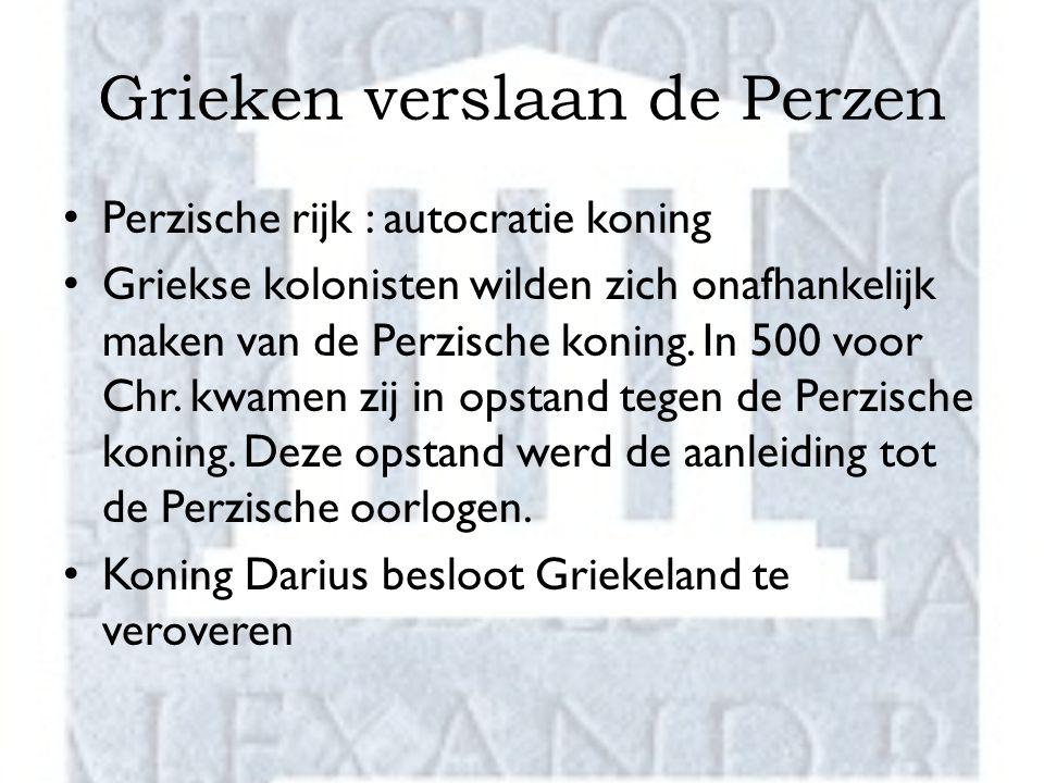 Grieken verslaan de Perzen