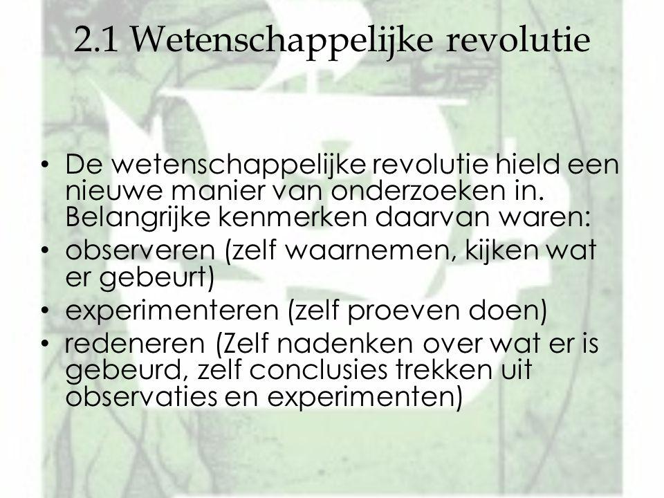 2.1 Wetenschappelijke revolutie