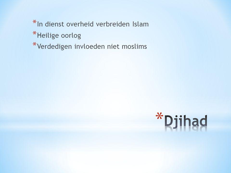 Djihad In dienst overheid verbreiden Islam Heilige oorlog
