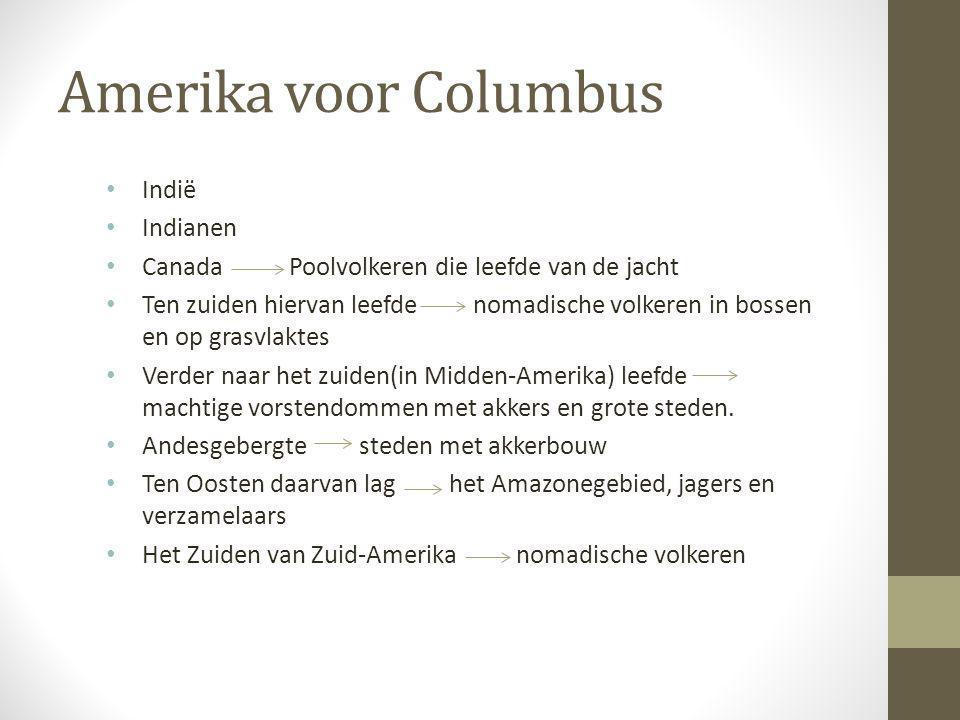 Amerika voor Columbus Indië Indianen