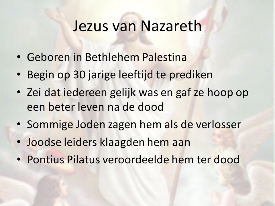 Jezus van Nazareth Geboren in Bethlehem Palestina