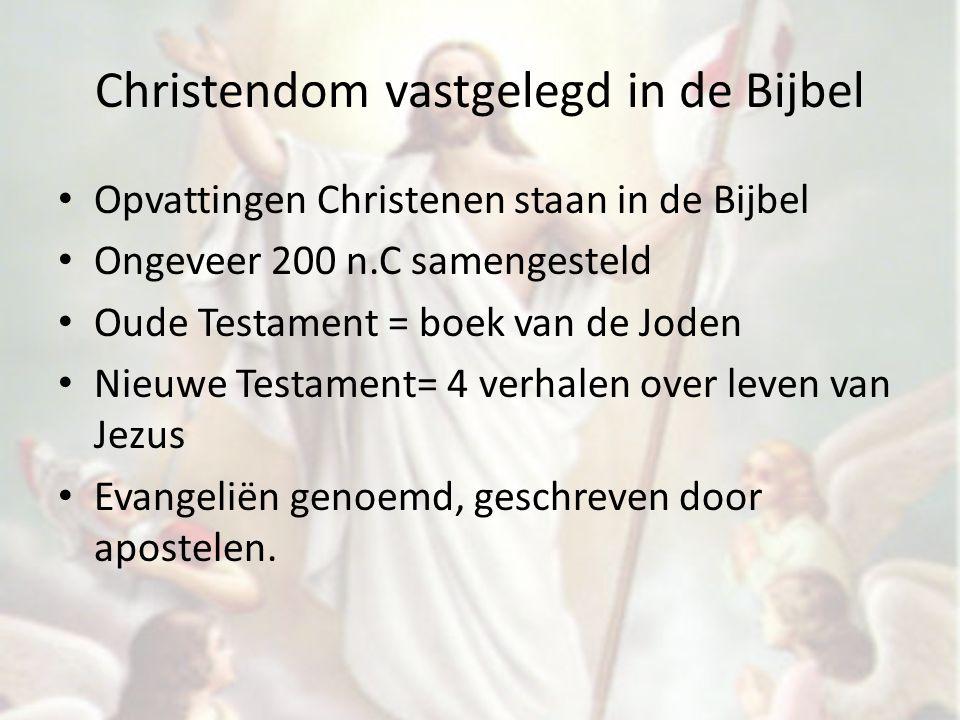 Christendom vastgelegd in de Bijbel