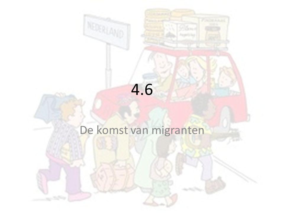 4.6 De komst van migranten