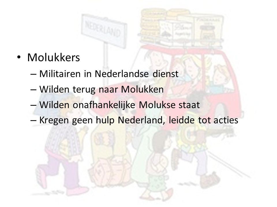 Molukkers Militairen in Nederlandse dienst Wilden terug naar Molukken