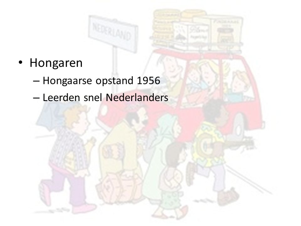 Hongaren Hongaarse opstand 1956 Leerden snel Nederlanders