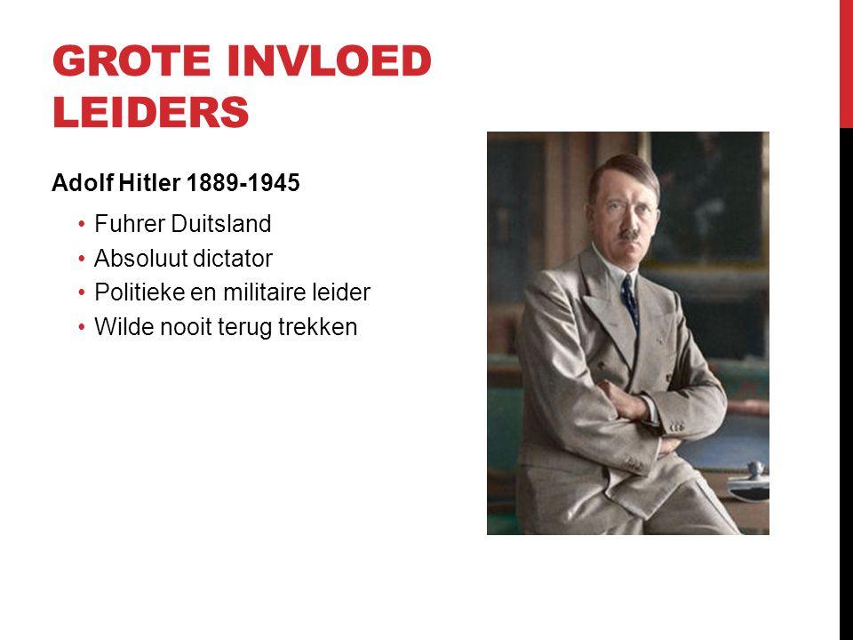 Grote invloed leiders Adolf Hitler 1889-1945 Fuhrer Duitsland
