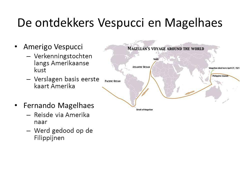 De ontdekkers Vespucci en Magelhaes