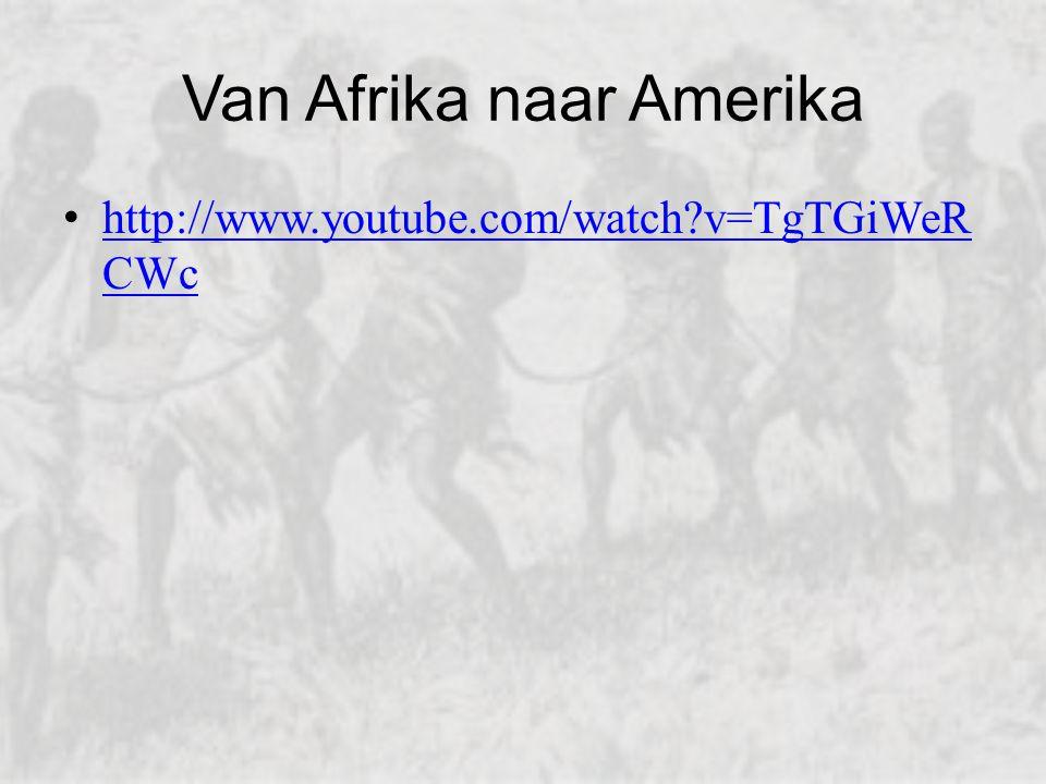 Van Afrika naar Amerika
