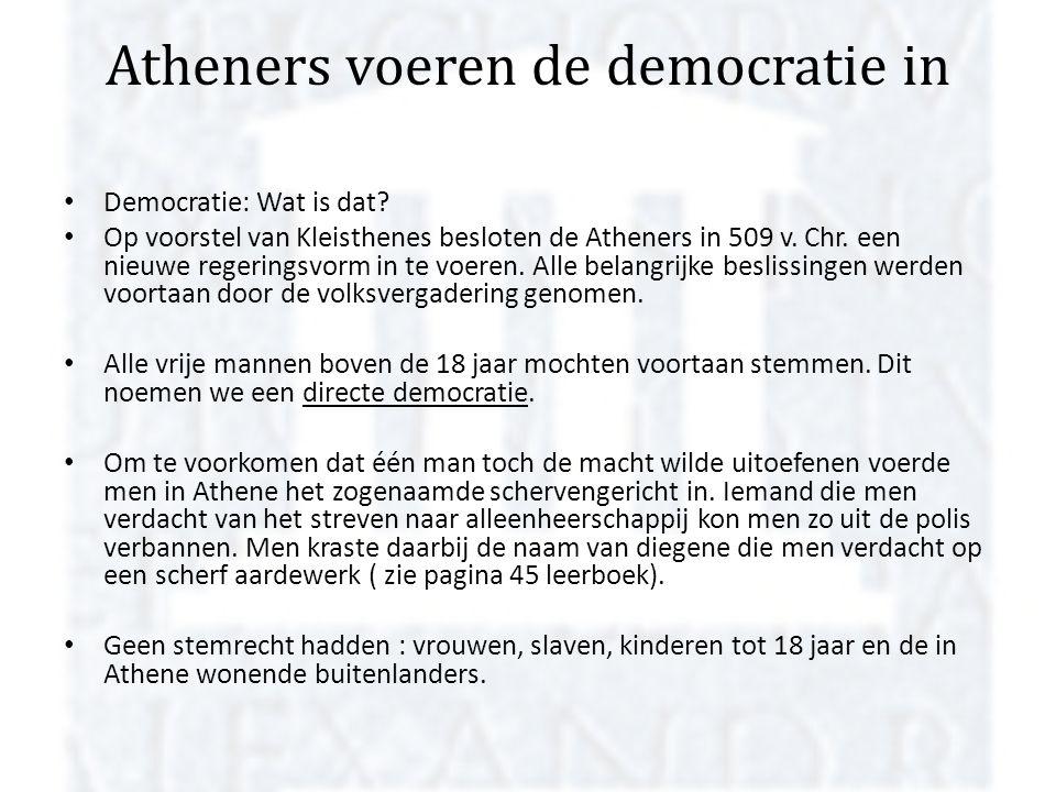 Atheners voeren de democratie in