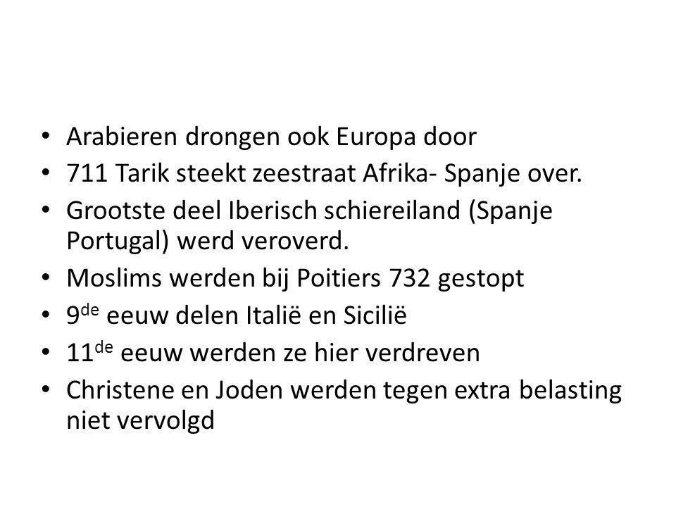 Arabieren drongen ook Europa door