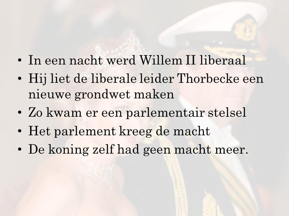 In een nacht werd Willem II liberaal