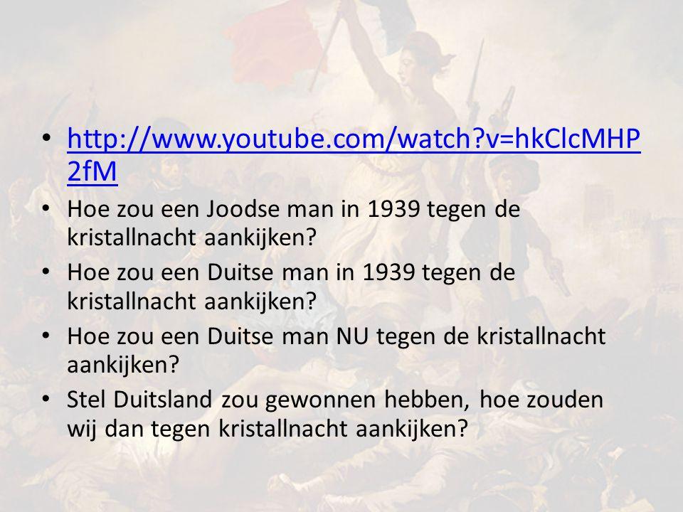 http://www.youtube.com/watch v=hkClcMHP2fM Hoe zou een Joodse man in 1939 tegen de kristallnacht aankijken