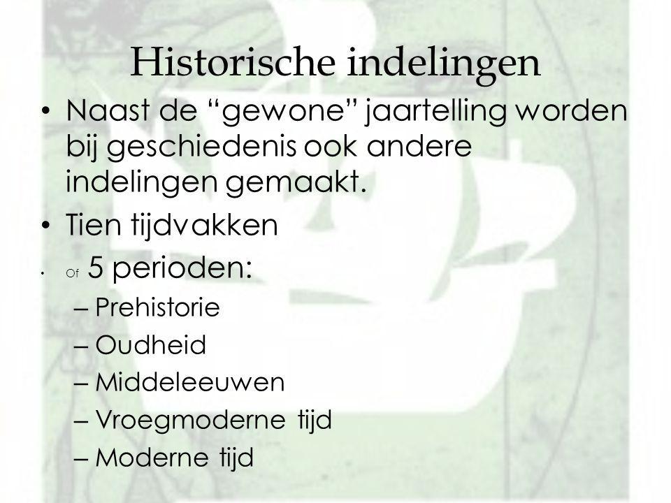 Historische indelingen