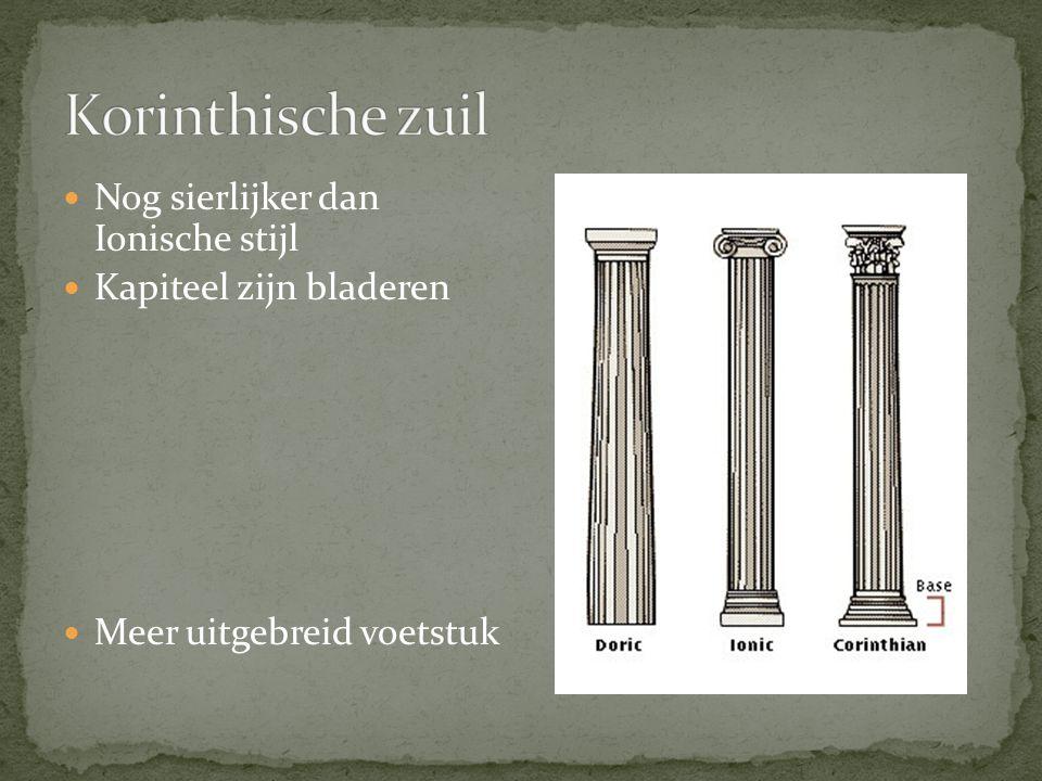 Korinthische zuil Nog sierlijker dan Ionische stijl