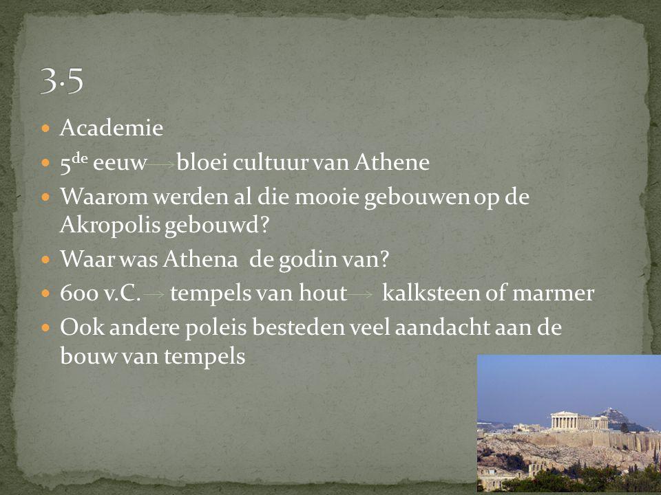 3.5 Academie 5de eeuw bloei cultuur van Athene