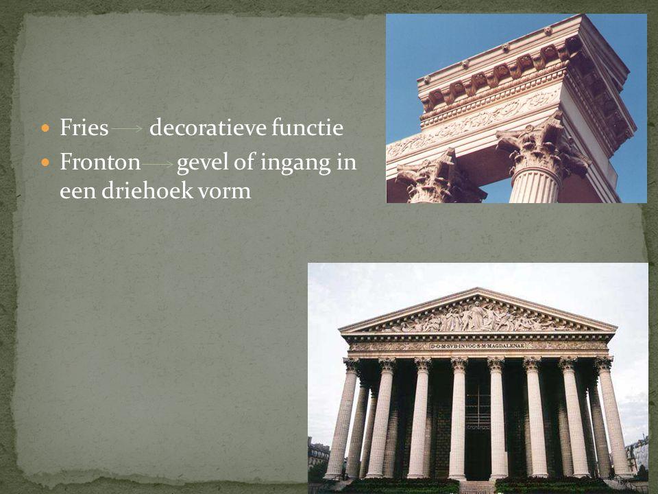 Fries decoratieve functie