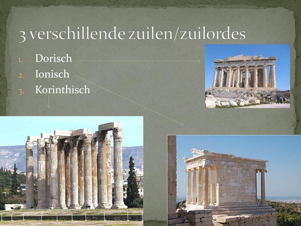 3 verschillende zuilen/zuilordes