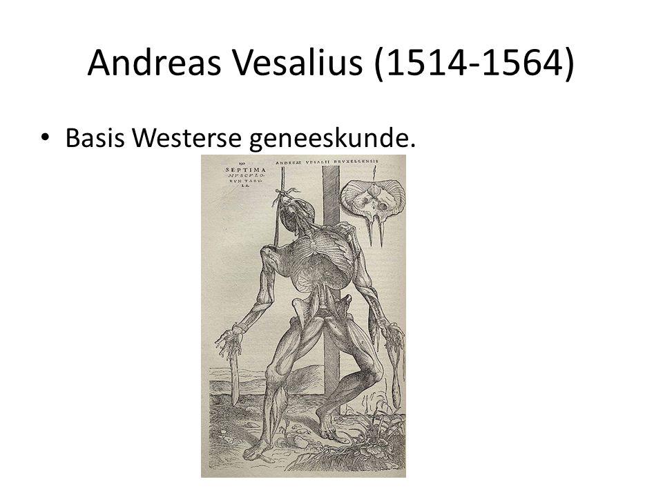 Andreas Vesalius (1514-1564) Basis Westerse geneeskunde.