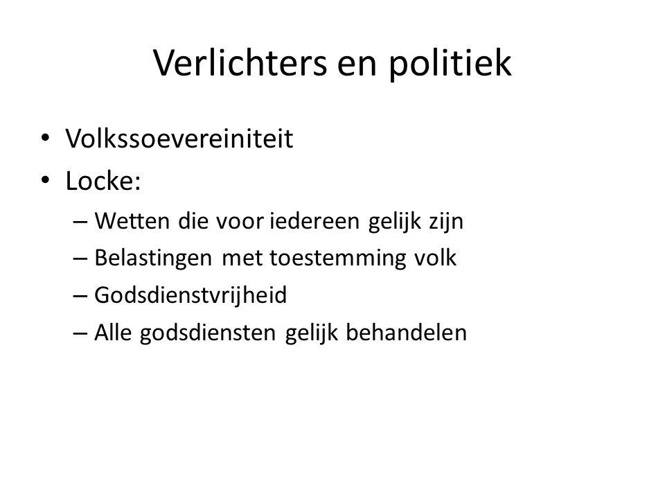 Verlichters en politiek