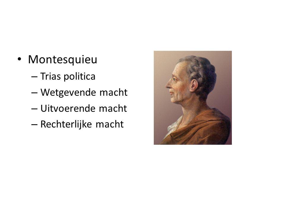 Montesquieu Trias politica Wetgevende macht Uitvoerende macht
