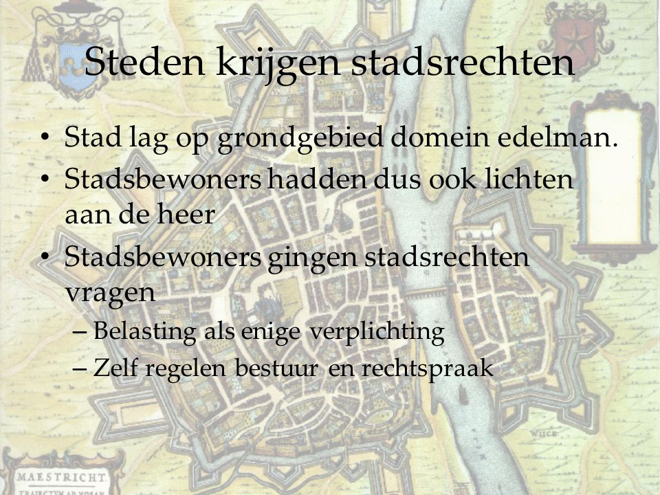 Steden krijgen stadsrechten