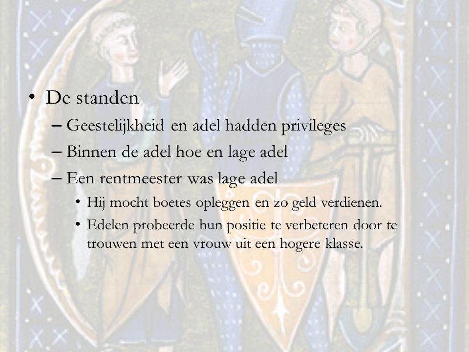 De standen Geestelijkheid en adel hadden privileges