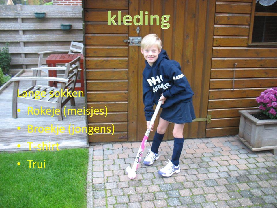 kleding Lange sokken Rokeje (meisjes) Broekje (jongens) T-shirt Trui