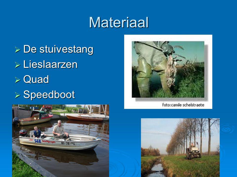 Materiaal De stuivestang Lieslaarzen Quad Speedboot